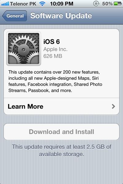 iOS6OTA