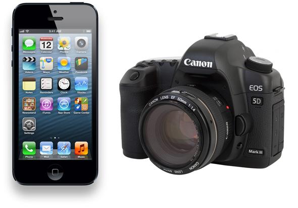 iPhone 5 vs Canon 5D Mark III