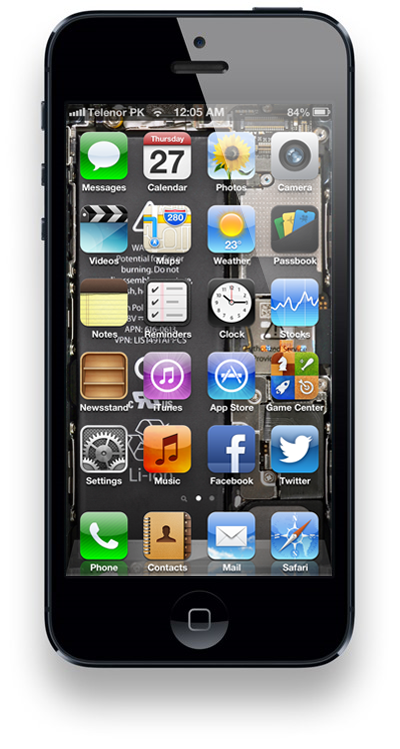 iPhone internals home screen