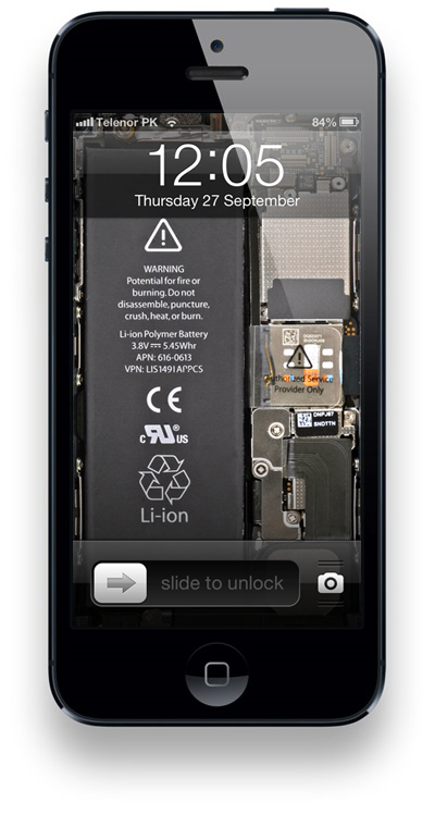 iPhone internals wallpaper