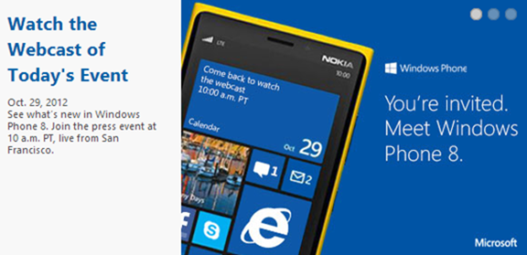 WP8 Event Live