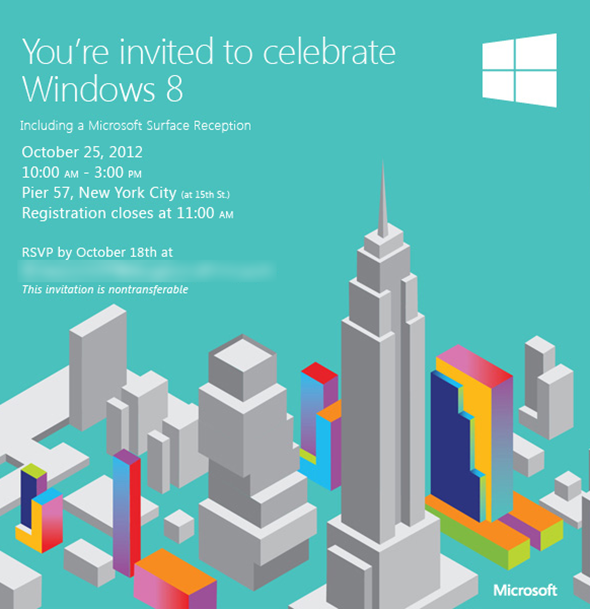 Windows 8 Invite