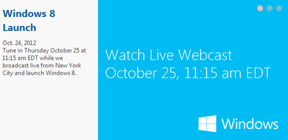 Windows 8 launch live stream