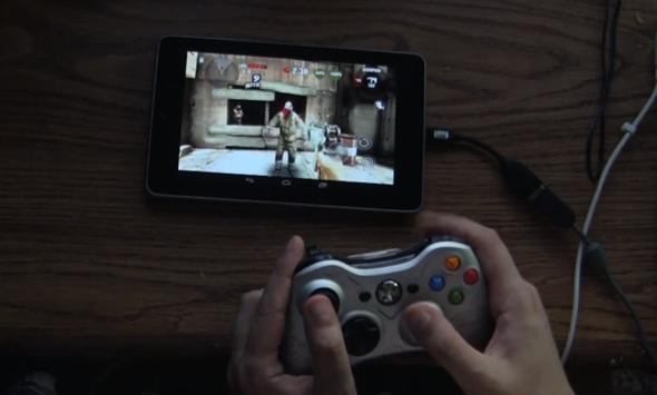 Xbox controller with Nexus 7