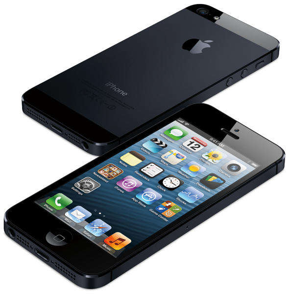 iPhone 5 angled black