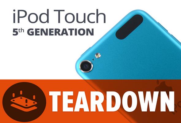 iPod touch 5G teardown splash