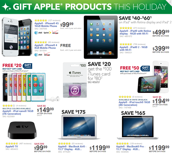 Apple 2012 Black Friday Best Buy