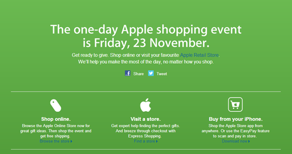 Apple Aus Black Friday