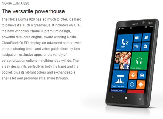 Lumia 820 ATT 1