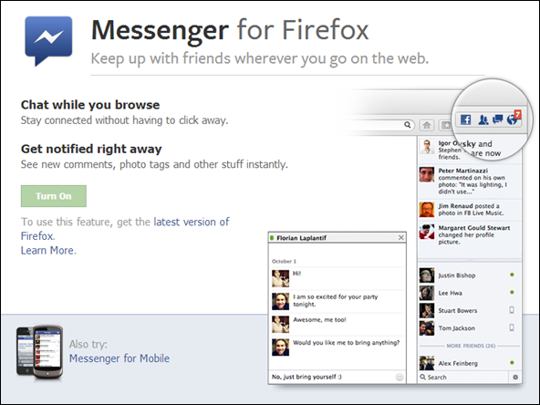 Messenger for Firefox
