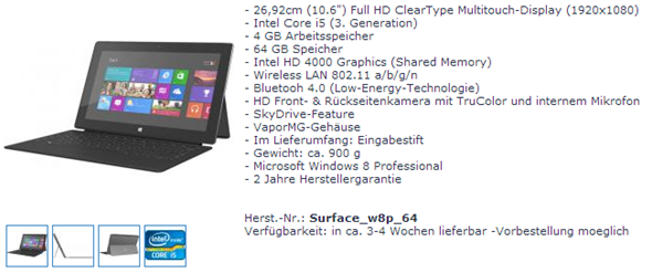 Surface Pro price