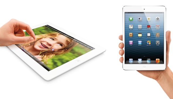 iPad 4 vs iPad mini display