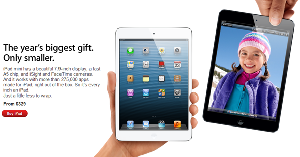 iPad mini holiday gift