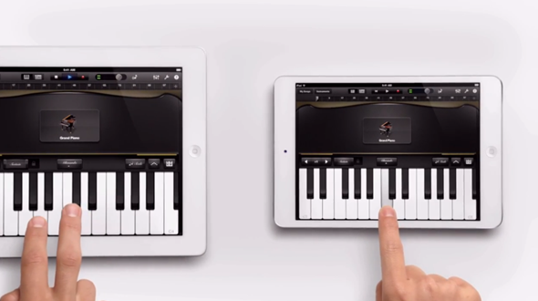 iPad mini piano ad