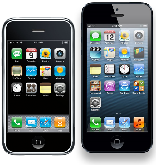 iPhone OS 1 vs iOS 6