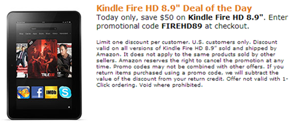 Kindle Fire HD Deal