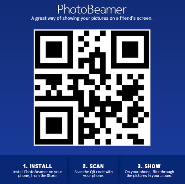 PhotoBeamer website