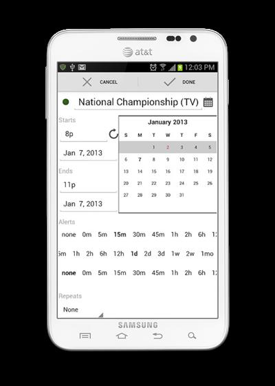 Agenda Android 2