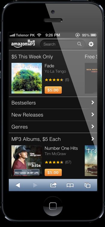 Amazon MP3 Store iPhone 5