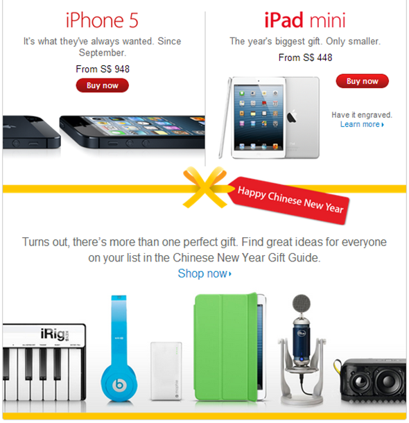 Chinese new year sale apple