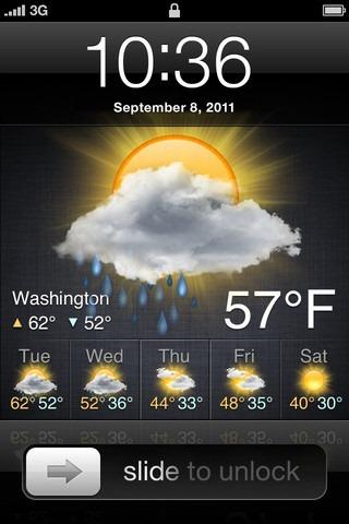 Lock_weather_Screen