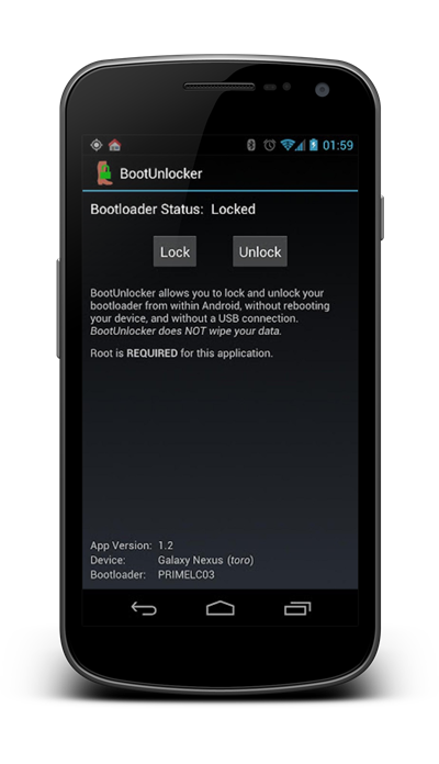Unlock bootloader galaxy nexus