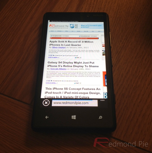 Windows Phone 8 Browsing