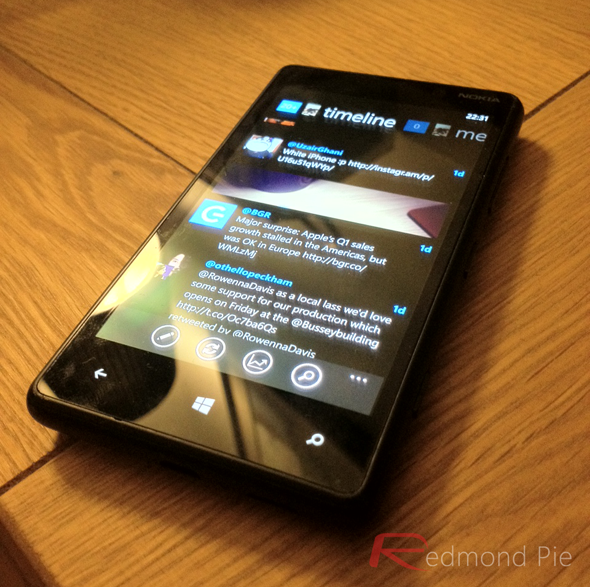Windows Phone 8 Twitter