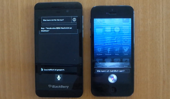 Z10 vs iPhone 5 voice