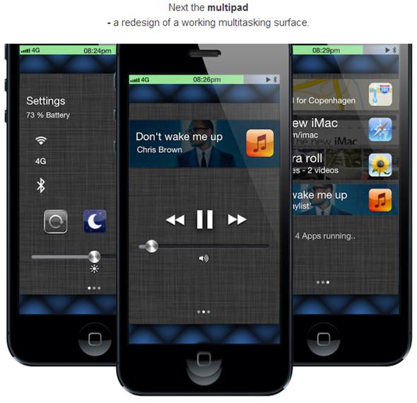 iOS 7 Concept Multipad