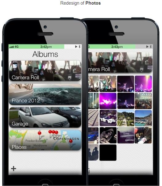 iOS 7 concept Photos