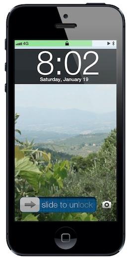 iOS 7 concept lock screen