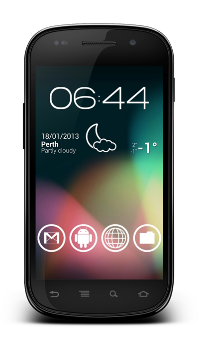 Android status bar jelly bean