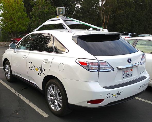 Google driverless Lexus