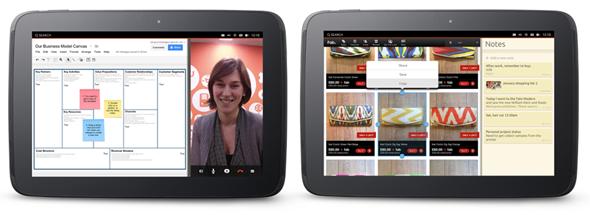 Ubuntu for tablet multitasking