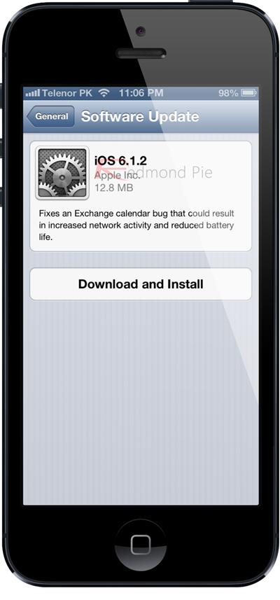 iOS 612 update