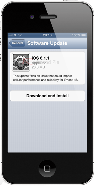 iOS611 iPhone 4S