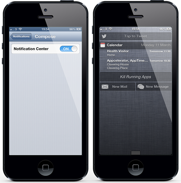 notification center iphone how to add new mail and message widget to ios notification 9792
