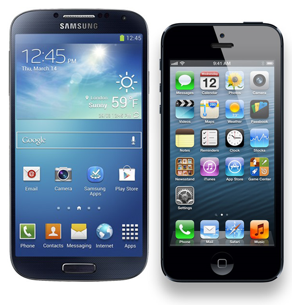 GS4 vs iPhone 5
