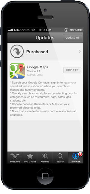 Google Maps 11 iOS