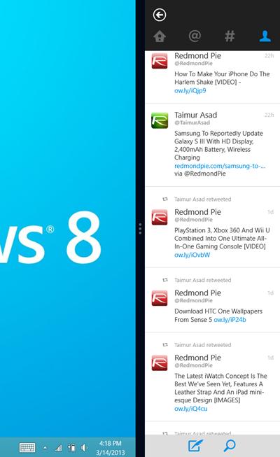Windows 8 Twitter