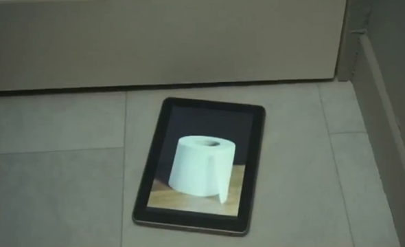 tablet toilet paper