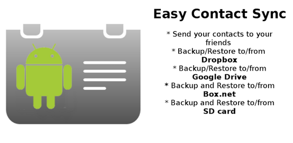 Backup / Restore Contacts On Android To The Cloud Or SD Card Using