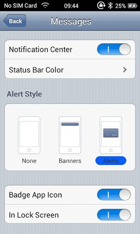 Espier Notifications: Get iPhone Notification Center, Status