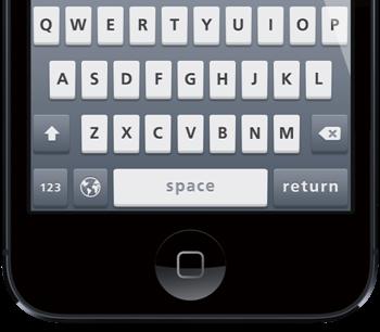 Flush Keyboard iPhone