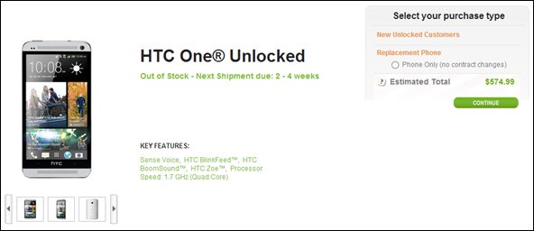 HTC One unlocked