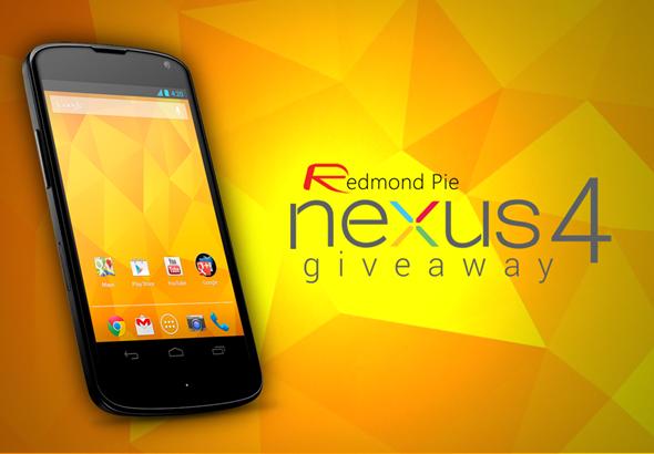 Nexus 4 giveaway copy