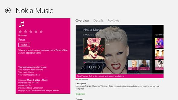 Nokia Music App For Windows 8 / RT Released