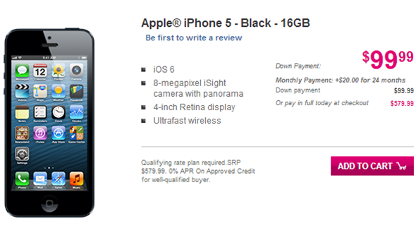 T-mobile iPhone 5 preorder