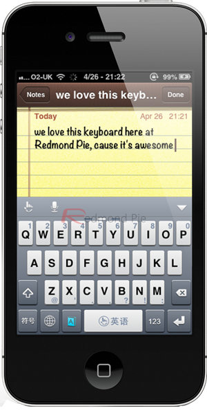 TouchPal notepad